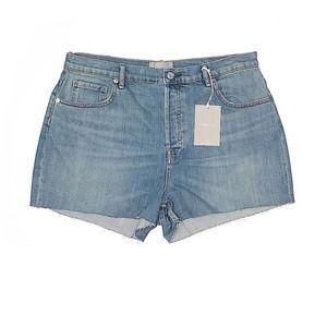 Everlane High rise denim shorts